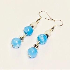 Angelite & Cream Riverstone Earrings